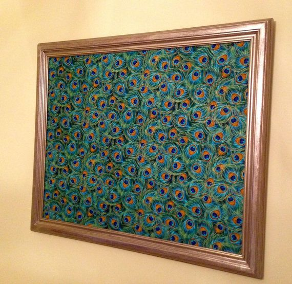 Magnetic Wall Decor wall decor-large bulletin board, magnetic bulletin board, gold