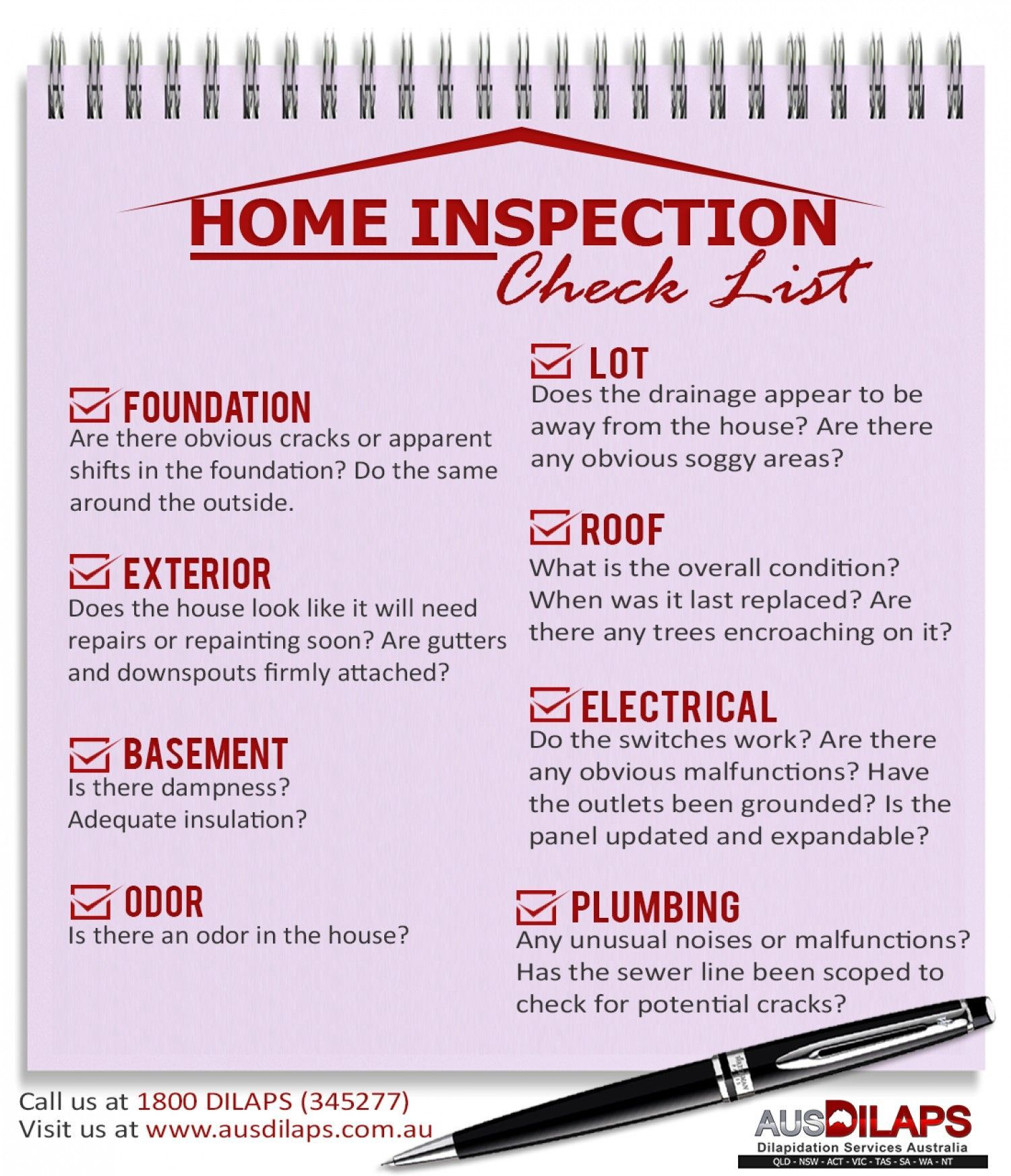 Home Inspection Checklist Infographic  Home Selling Checklist