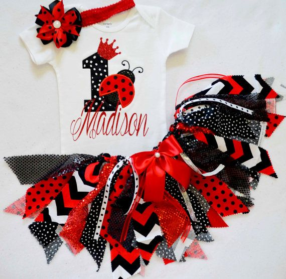 foto de Ladybug Birthday outfit First Birthday Outfit girl Girls