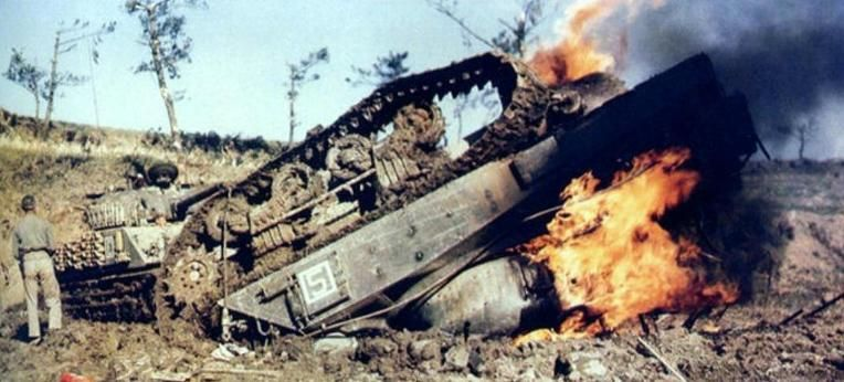 Image result for ww2 sherman burning tank