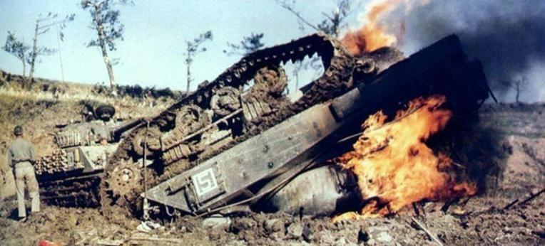 Image result for ww2 sherman burning tank