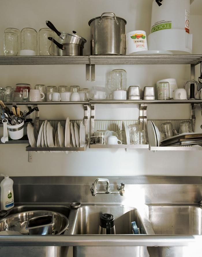Hanging Shelves And Dish Drying Racks From Ikea (Grundtal Range)