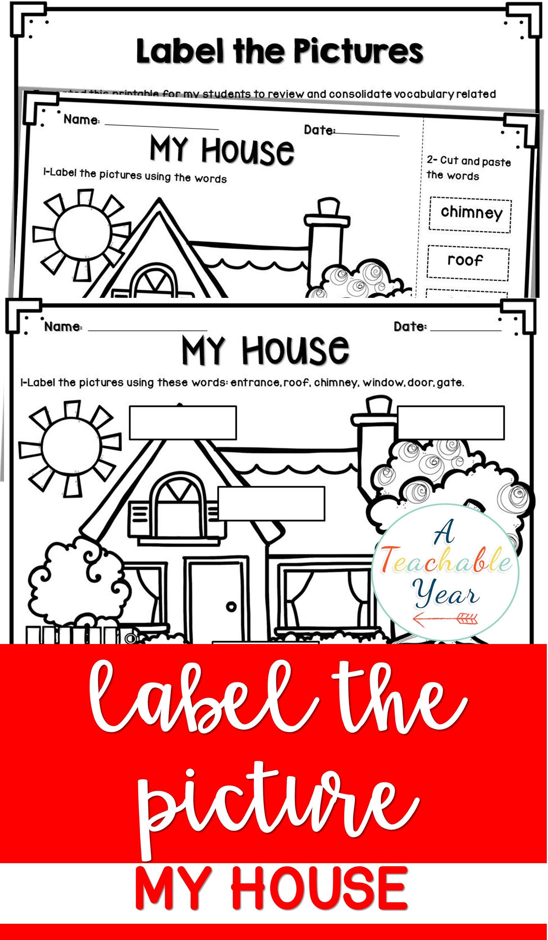 Label The Pictures My House En
