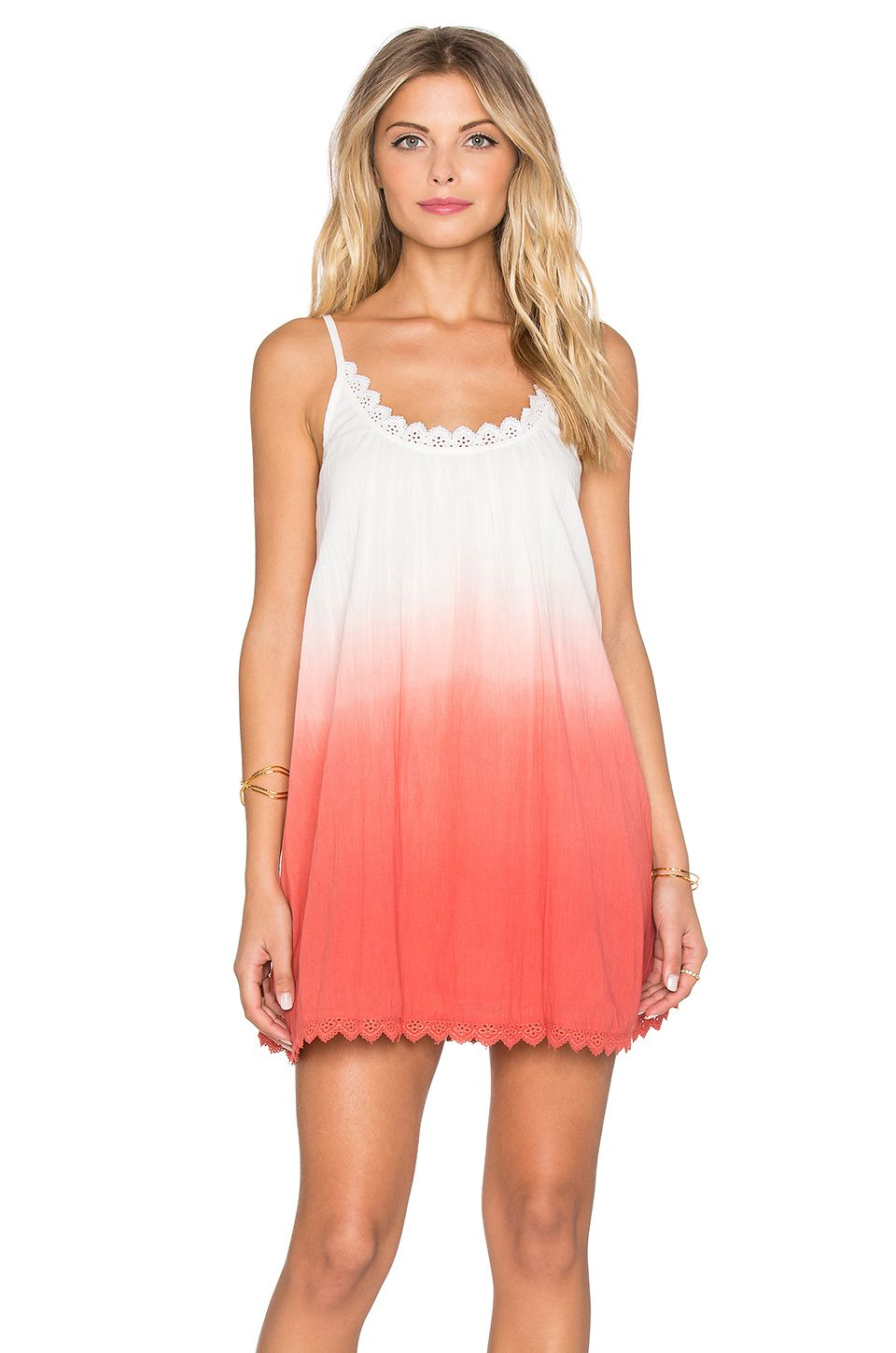 5b0b67129d Tularosa Lily Babydoll Dress in Watermelon Ombre