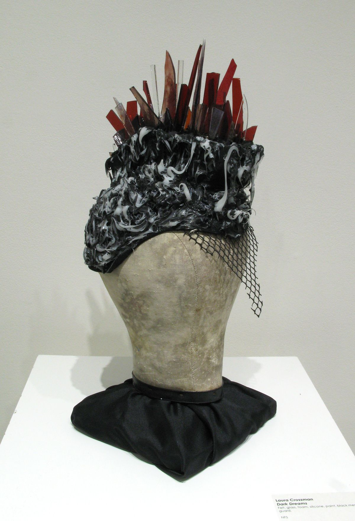 Dark Dreams (Laura Crossman) Felt, glass, foam, silicone