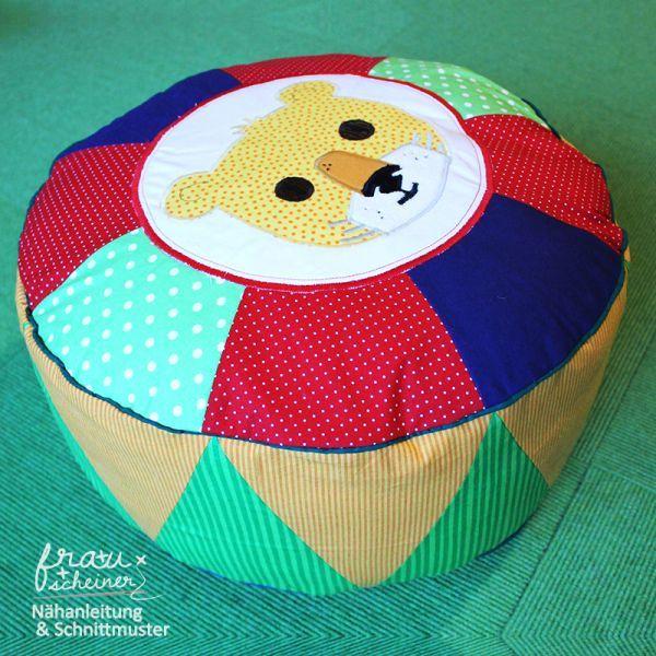 Bodenkissen selber machen  Zirkuskissen | Bodenkissen, Sitzkissen und Löwin