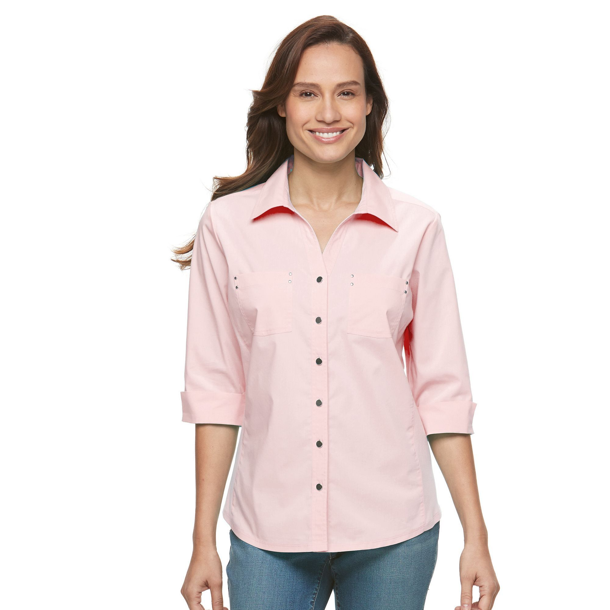 e1587f2d96702 Petite Croft   Barrow® Knit-to-Fit Shirt