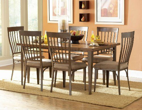 6631 60 Lemont Wood And Metal Dining Table By Home Elegance. $350.00. Design