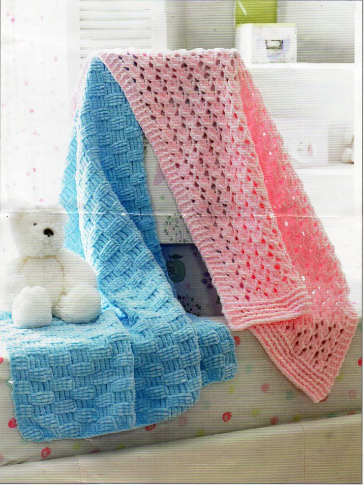 """baby blankets knitting pattern pdf download 23X30"""" chunky ..."""