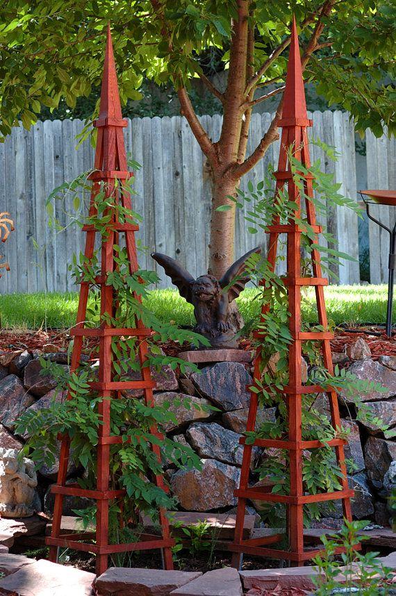 More obelisk trellises to consider. Gardening Garden