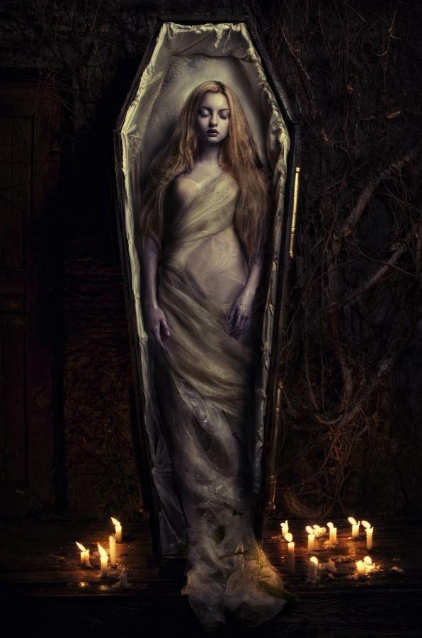 Vampire Coffin Dark Art Female Vampire Vampire Art