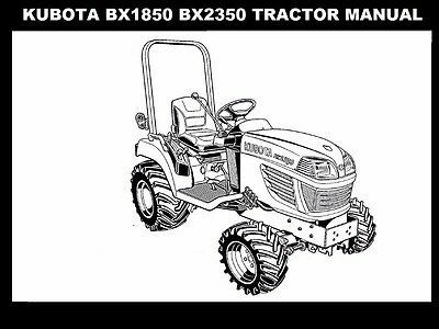 (Advertisement eBay) KUBOTA BX1850 BX2350 OPERATIONS