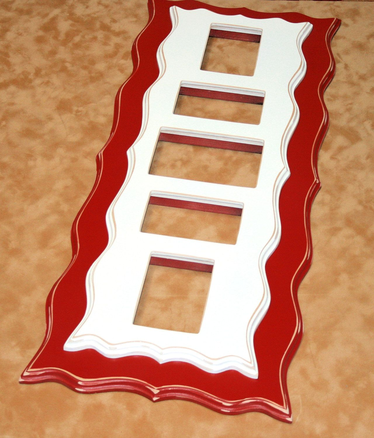 Twin stacked picture frame multi opening 5 openings for 4x6 and twin stacked picture frame multi opening 5 openings for 4x6 and 5x7 multiple shabby whimsical jeuxipadfo Gallery