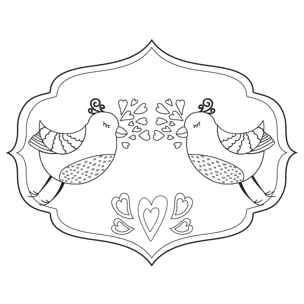 Love Birds Coloring Page Adult Coloring Pages Coloring Pages