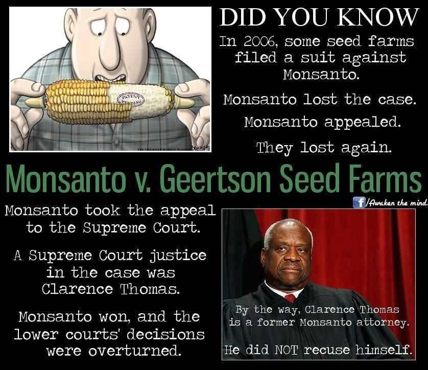 Monsanto...it's comforting to know those trusted to the