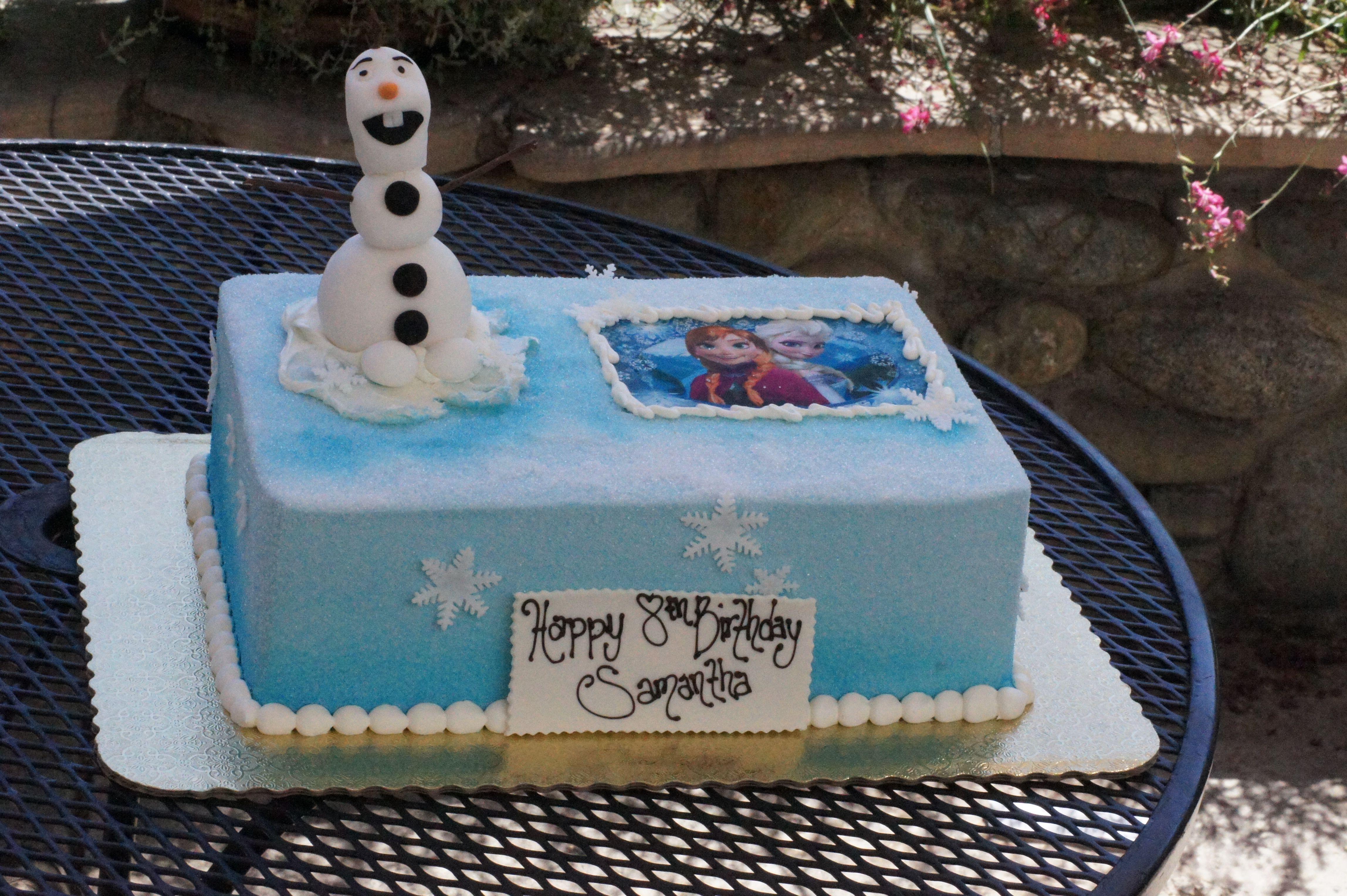 Blue pressed sugar disney frozen themed birthday sheet