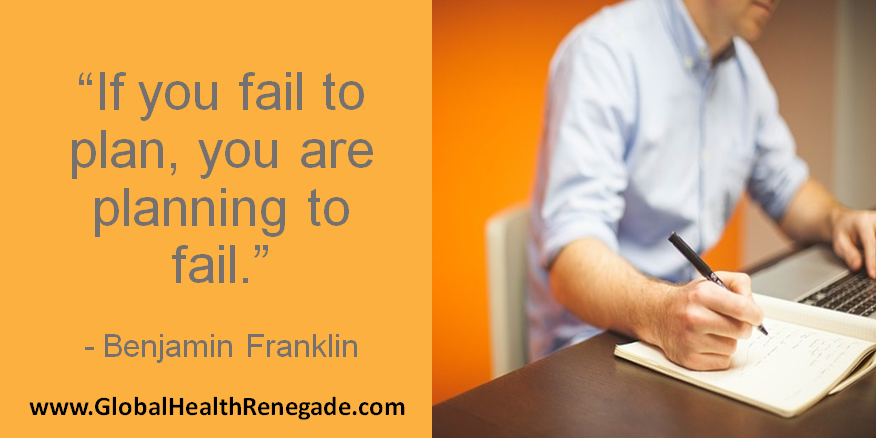 Start your week on a high and get #planning for #success in all areas of your life. www.GlobalHealthRenegade.com