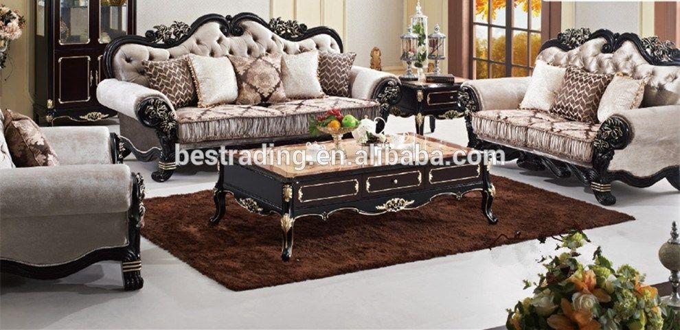 Muebles de lujo sofá clásico, Marco de madera tallada europea sytle ...