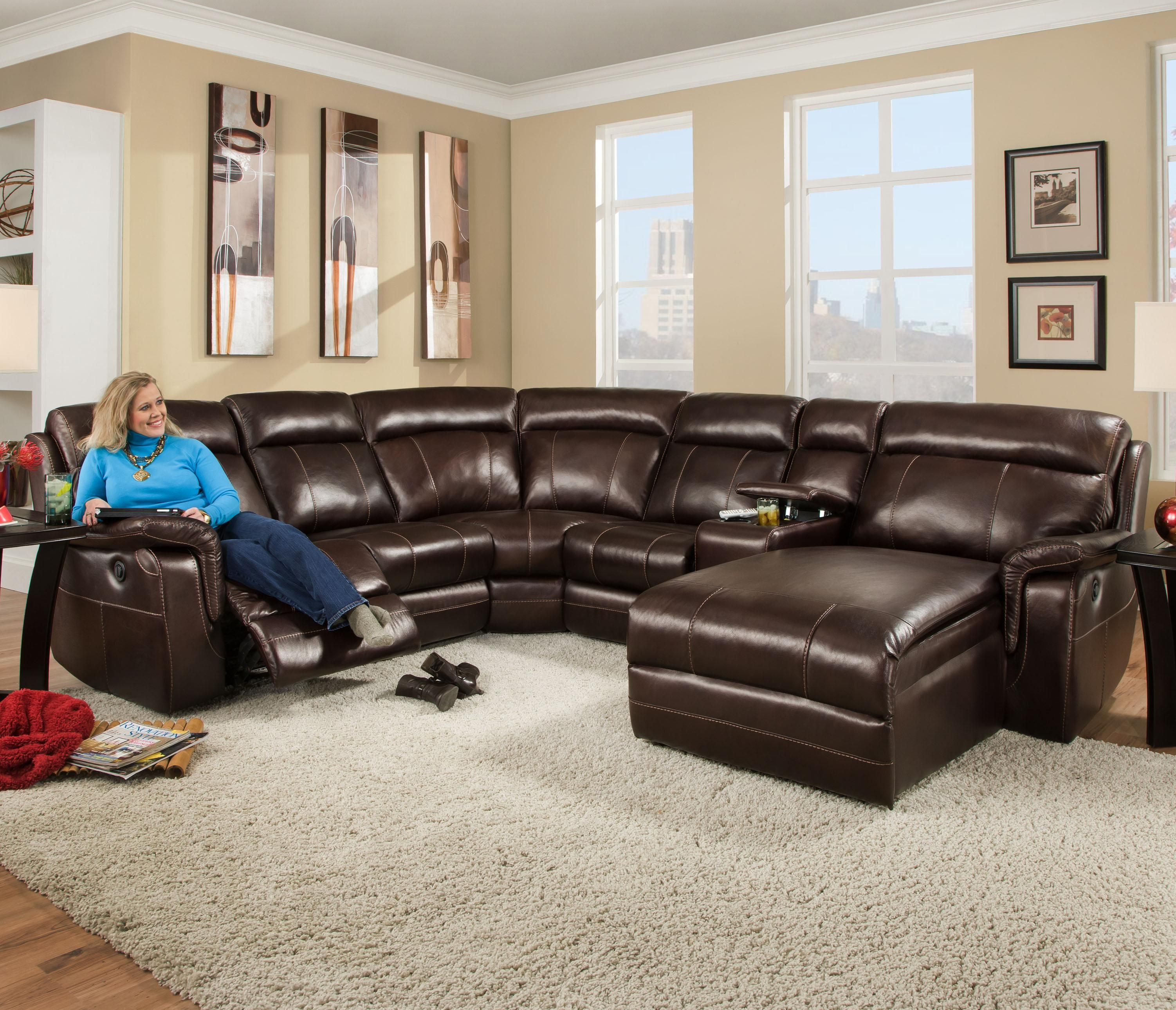 862 Sectional Sofa with 5 Seats by Corinthian Home