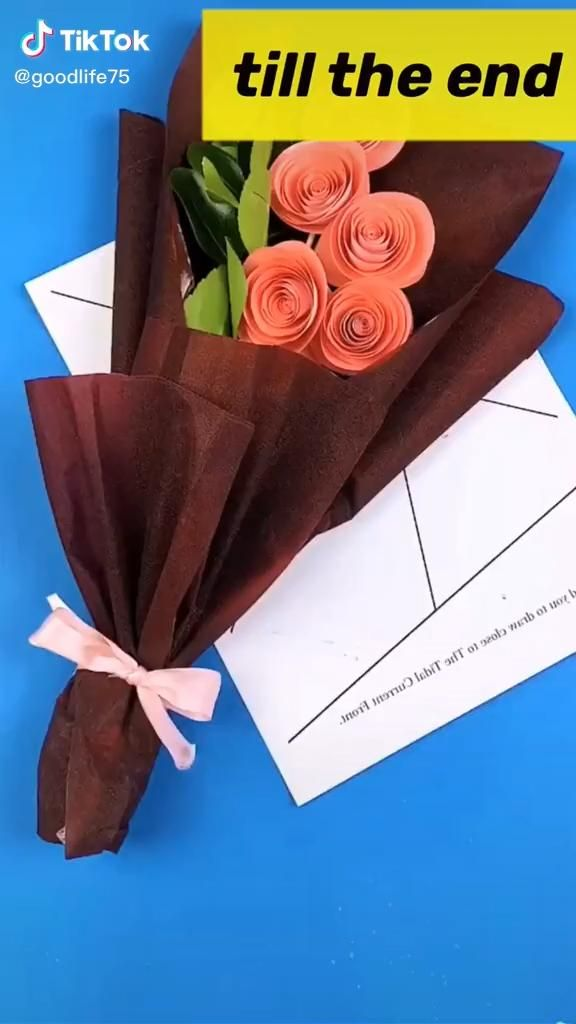 Photo of Origami video. . A bunch of flowers. Mother's Day gift. easy.