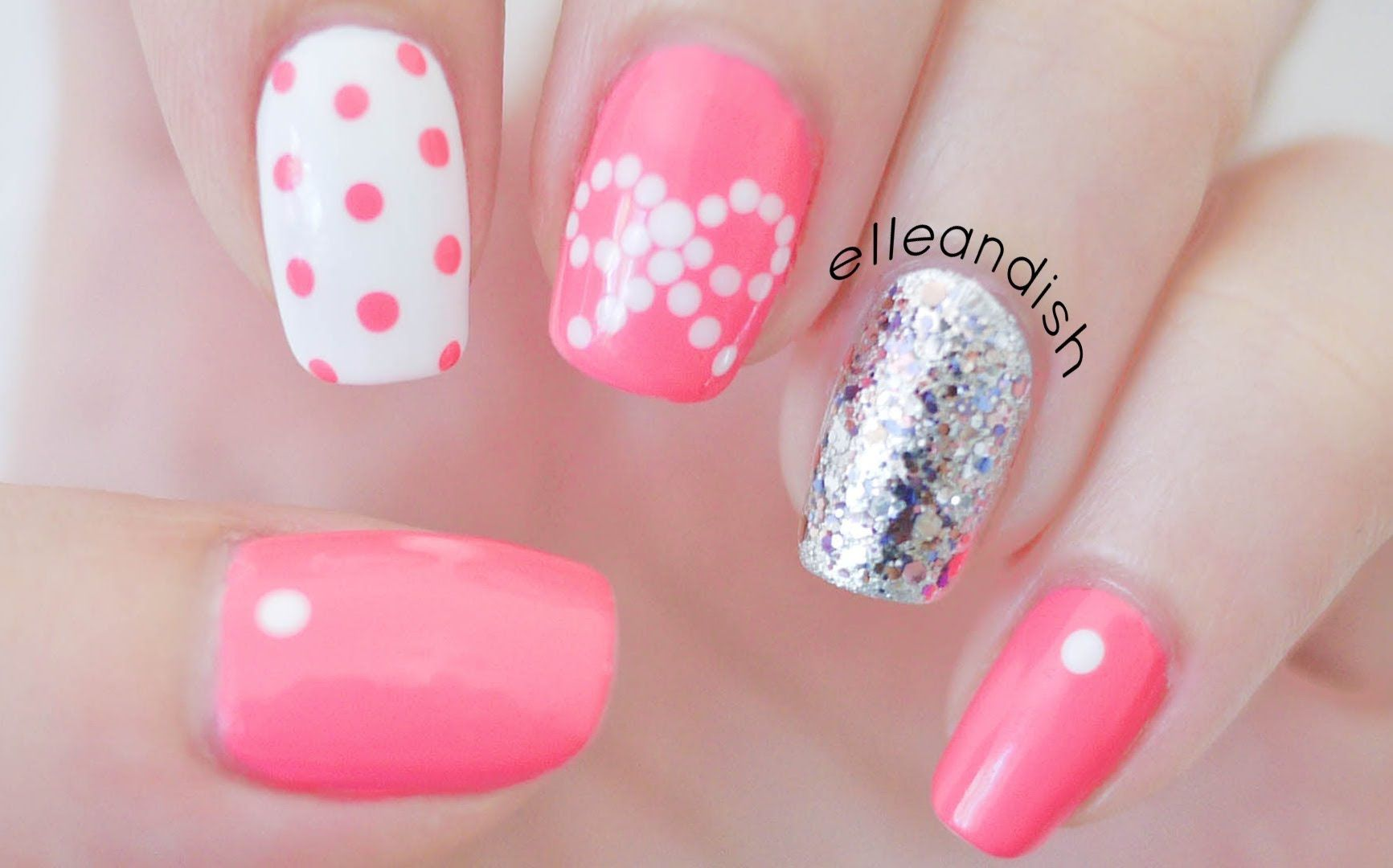 Easy Bow Nail Art Using Dots If You Dont Have A Dotting Tool