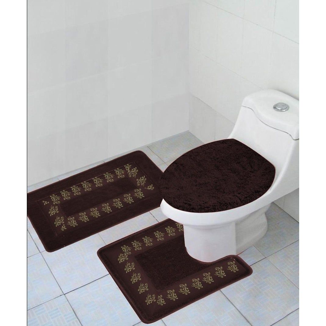 Polyester Bathroom Rug Set Brown Products In 2019