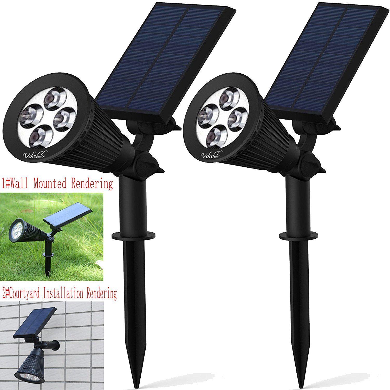 Waterproof LED Solar Panel Power Flood Lights Garden Yard Lawn Wall Spotlight