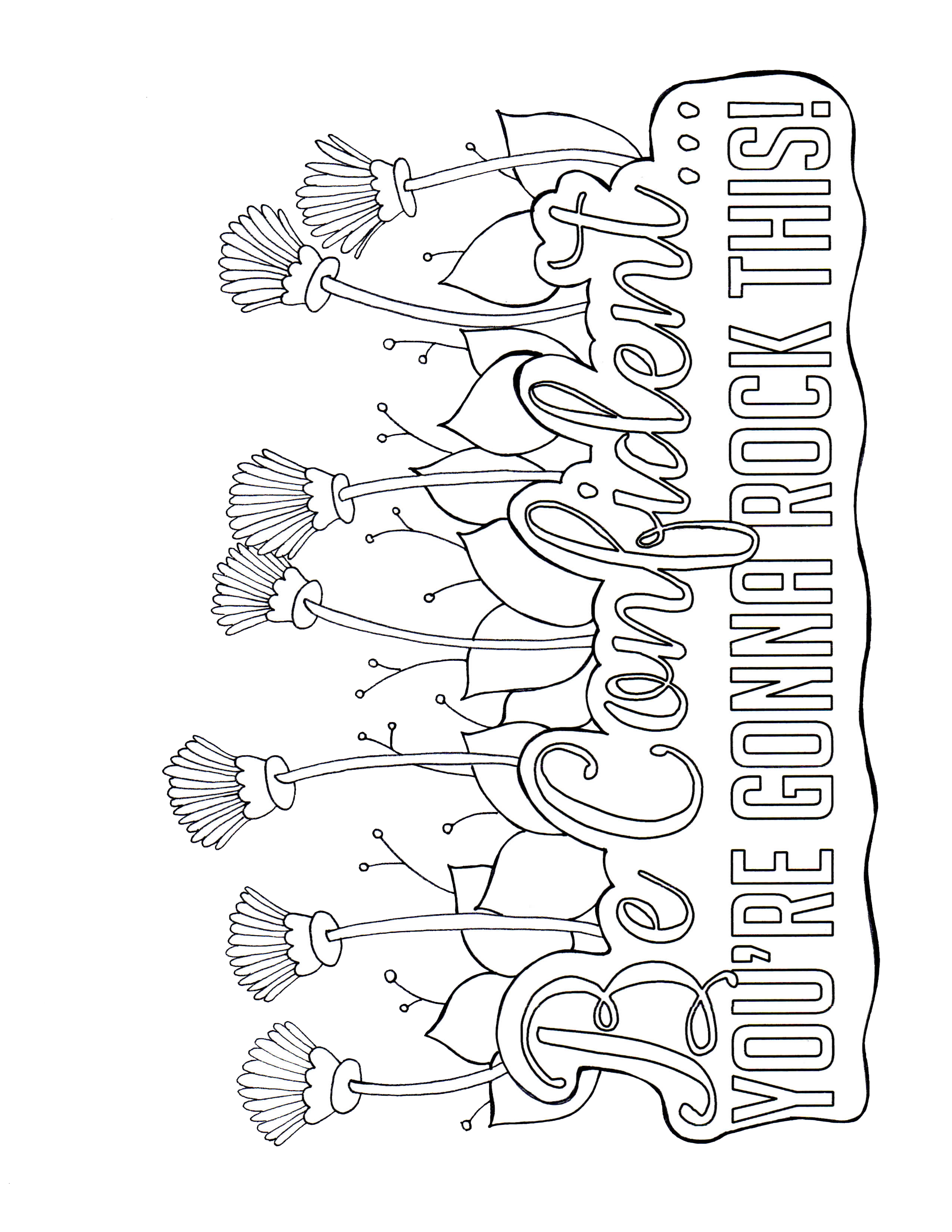 Free printable be confident youre gonna rock this from the best unexpected
