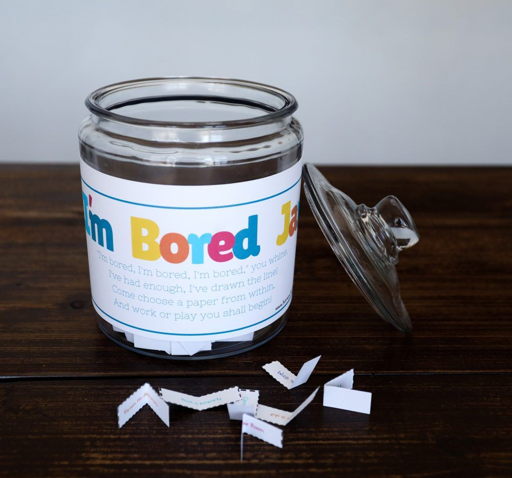 Are the kids bored not anymore with the im bored jar