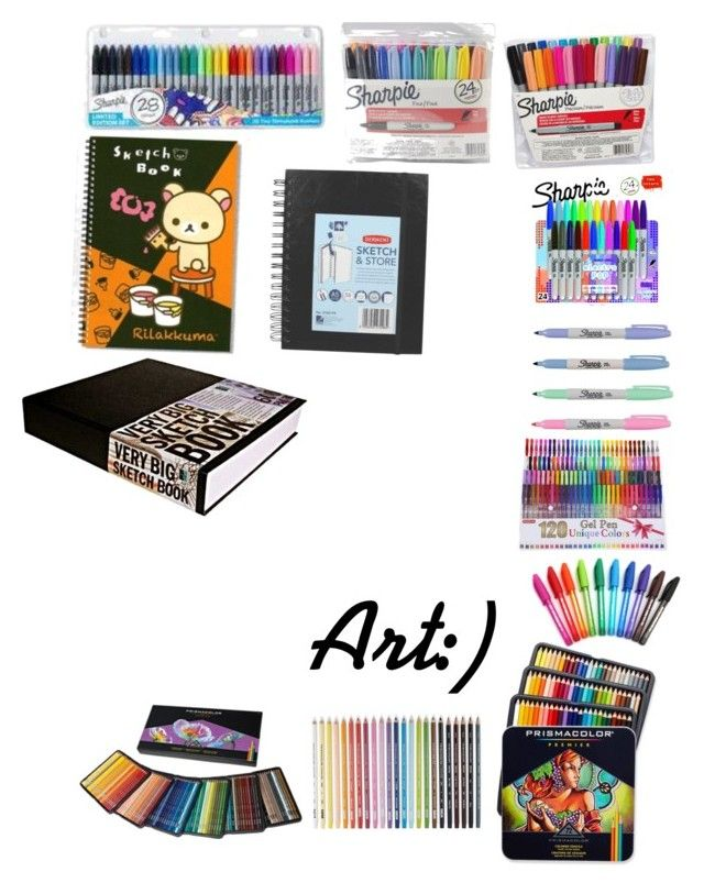 """""""I love sharpies pens pencils and paper"""" by avril-lavigne-fan-forever ❤ liked on Polyvore featuring Sharpie and Paper Mate"""