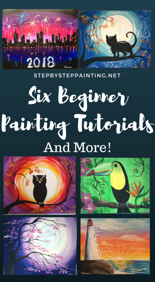 For Beginners Acrylic Canvas Tutorials In 2018 Paint Night