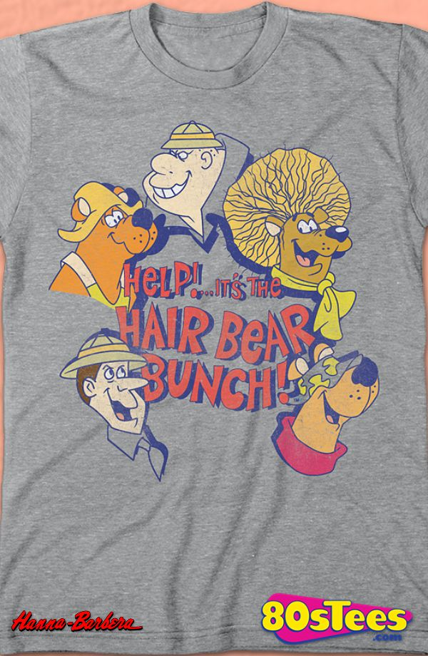 e09aed4f Hair Bear Bunch T-Shirt: Hanna Barbera Mens T-Shirt Hair Bear Bunch Geeks:  Enjoy the comfort of home or travel the great outdoors in this men's style  shirt ...