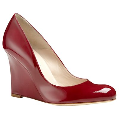 L.K. Bennett Maddie Patent Wedge Court Shoes, Red