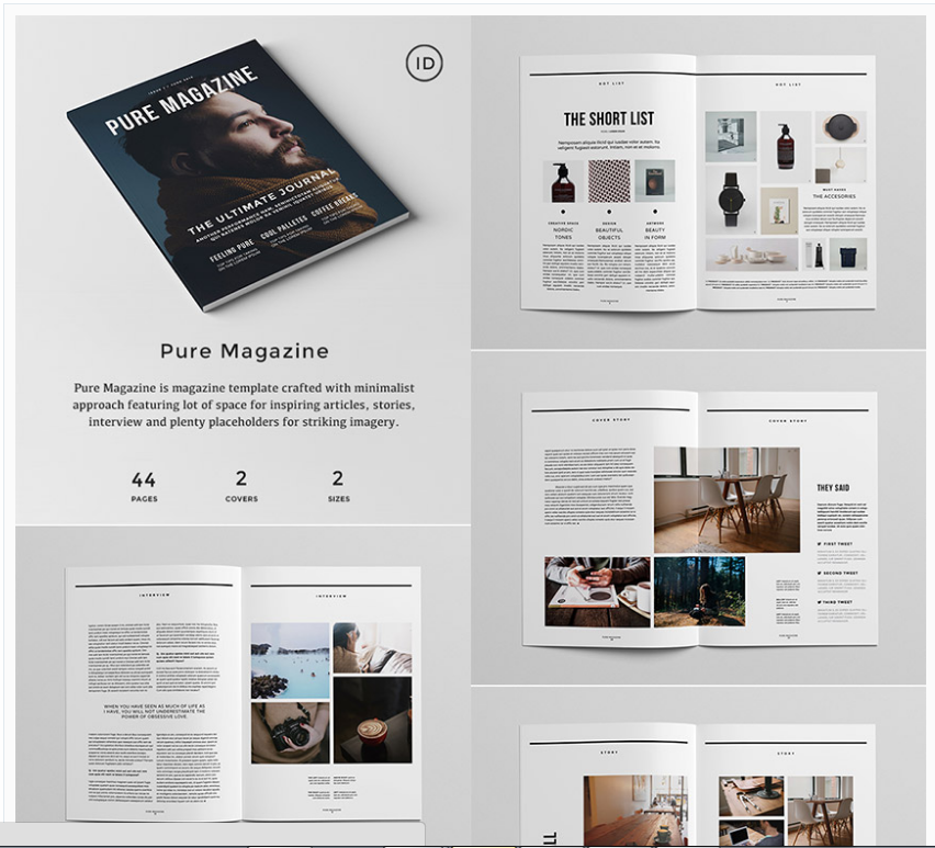 18 Magazine Templates With Creative Print Layout Designs | 18 ...