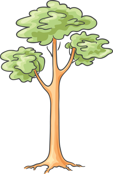 Cartoon Tree Cartoon Tree Images Png Format Transparent Png Resolution 386x596 Free Download On Tpng Net Cartoon Trees Tree Images Christmas Tree Clipart