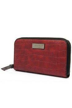 Mango Textured Wallet (Red)
