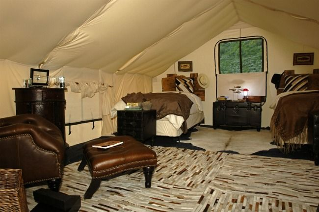 Glamping tents think guest house in your backyard i 39 d for Wall tent floor
