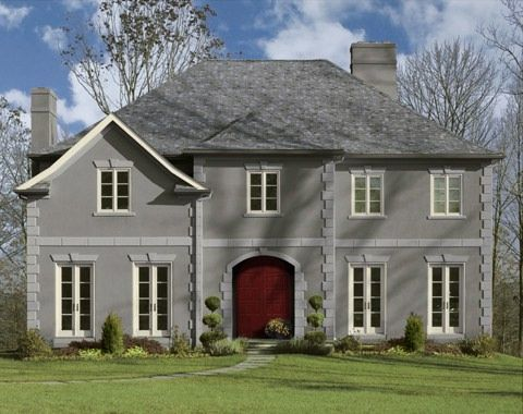 Dinner party af 300 on the door along with dolphin af 715 - Benjamin moore exterior paint visualizer ...