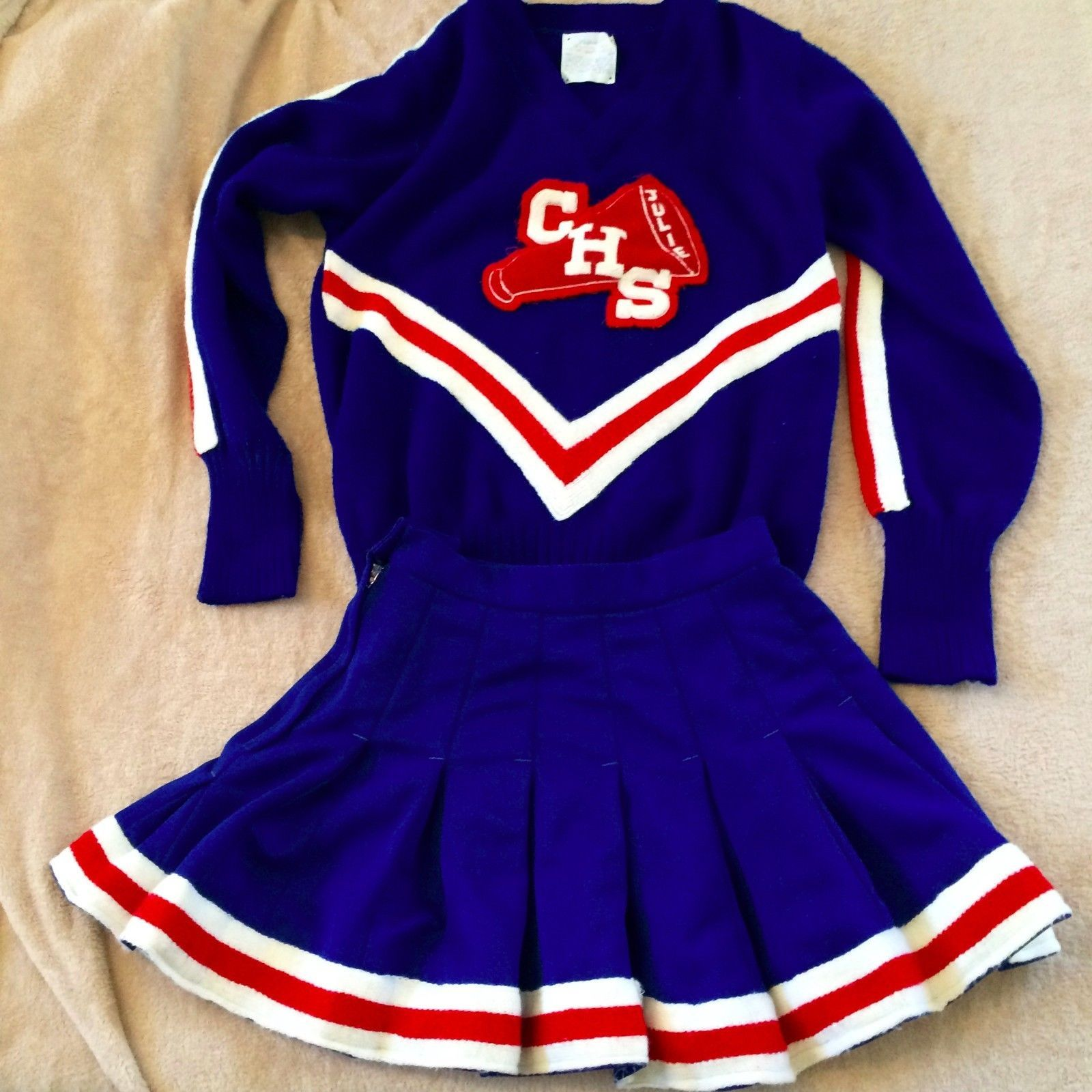 vintage cheerleading uniform