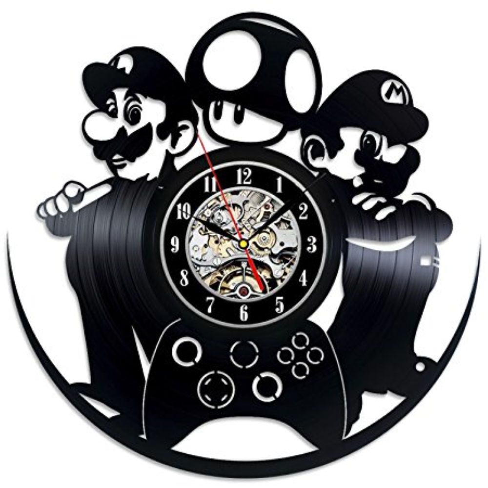 Super Mario Bros Character Vinyl Record Game Clock D Kids Art Gifts