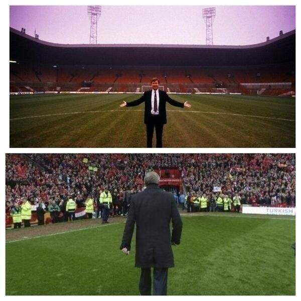 Alex Ferguson First And Last Day Manchester United Football Club Manchester United Football Football Love