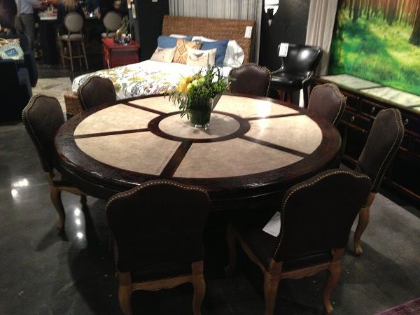 Round dining table by four hands furniture www for Dining room tables portland or