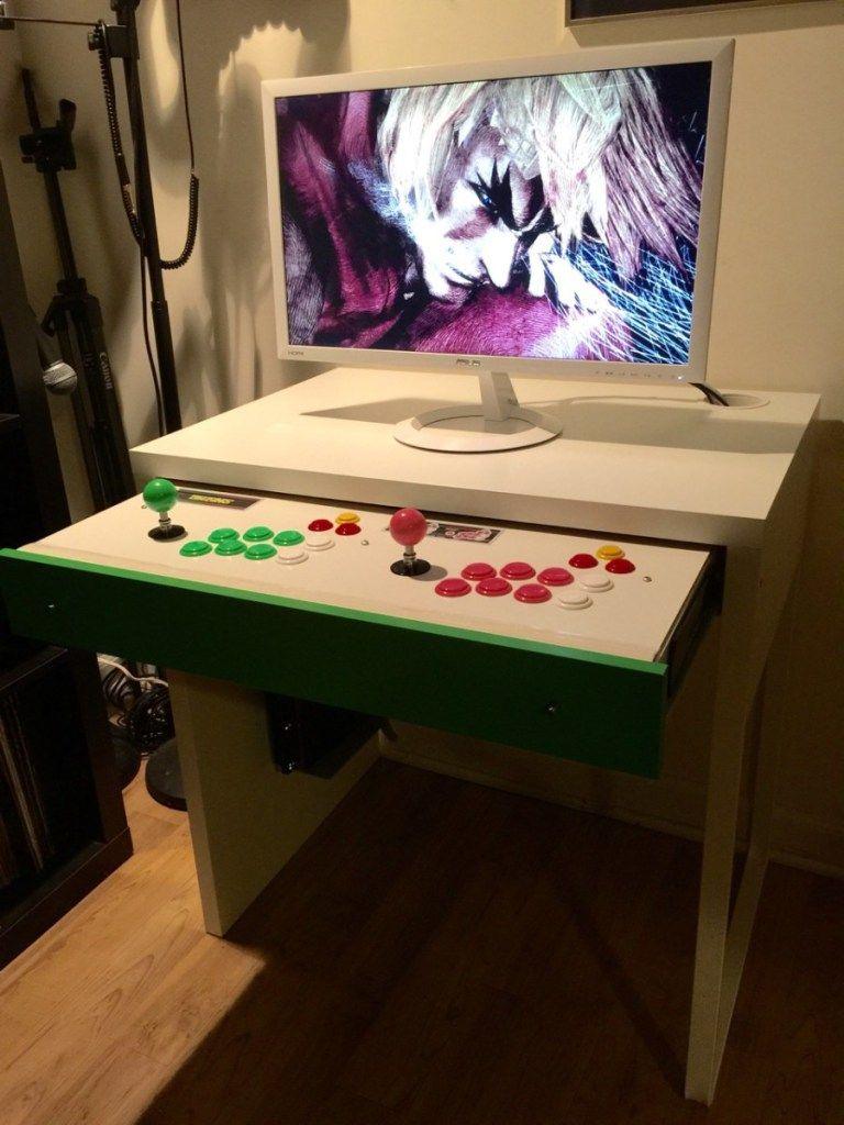 MICKE Computer Desk Arcade Stick Hack | DIY | Arcade stick