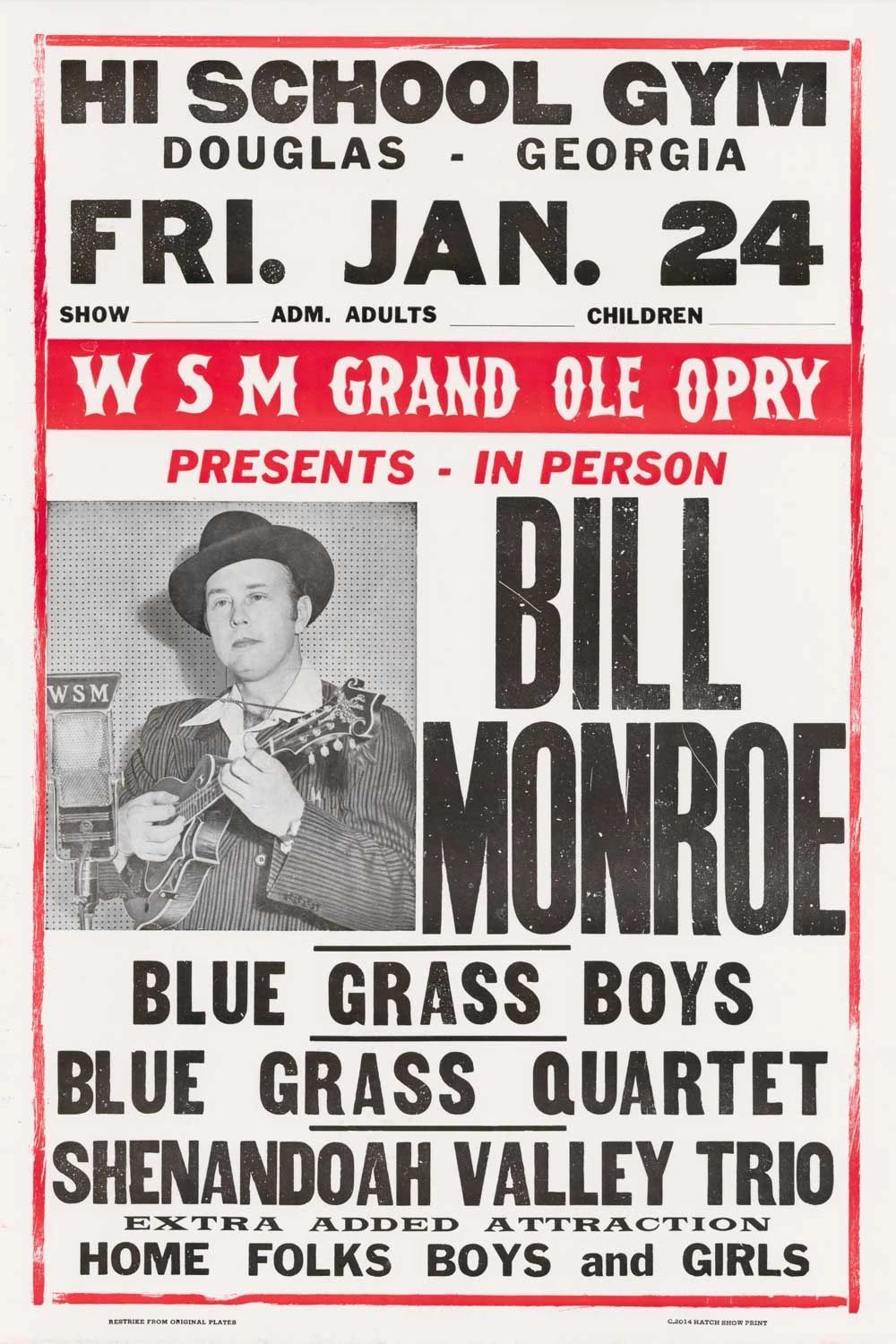 Music Posters Vintage Posters Hatch Show Print Shop In 2020 Music Poster Bill Monroe Concert Posters
