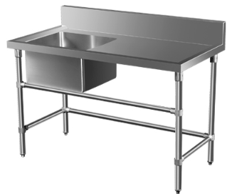 Minox Dm32 6 1800l R Single Sink Bench Left Or Right Stainless Table Stainless Steel Bench Steel Bench