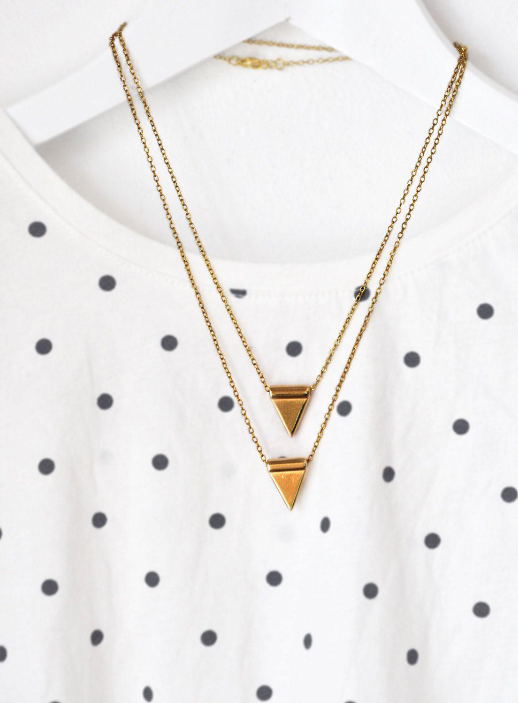 Pendulum pendant set tribal industrial necklace set raw gold