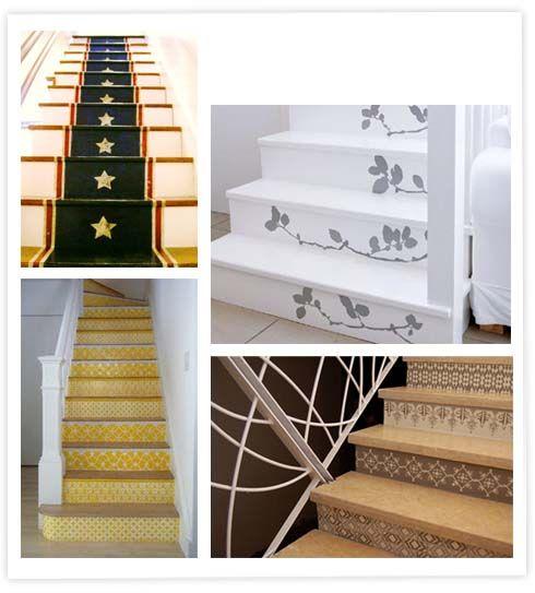 stairs escaliers escaleras stairs pinterest escaliers personnalis et contre marche. Black Bedroom Furniture Sets. Home Design Ideas