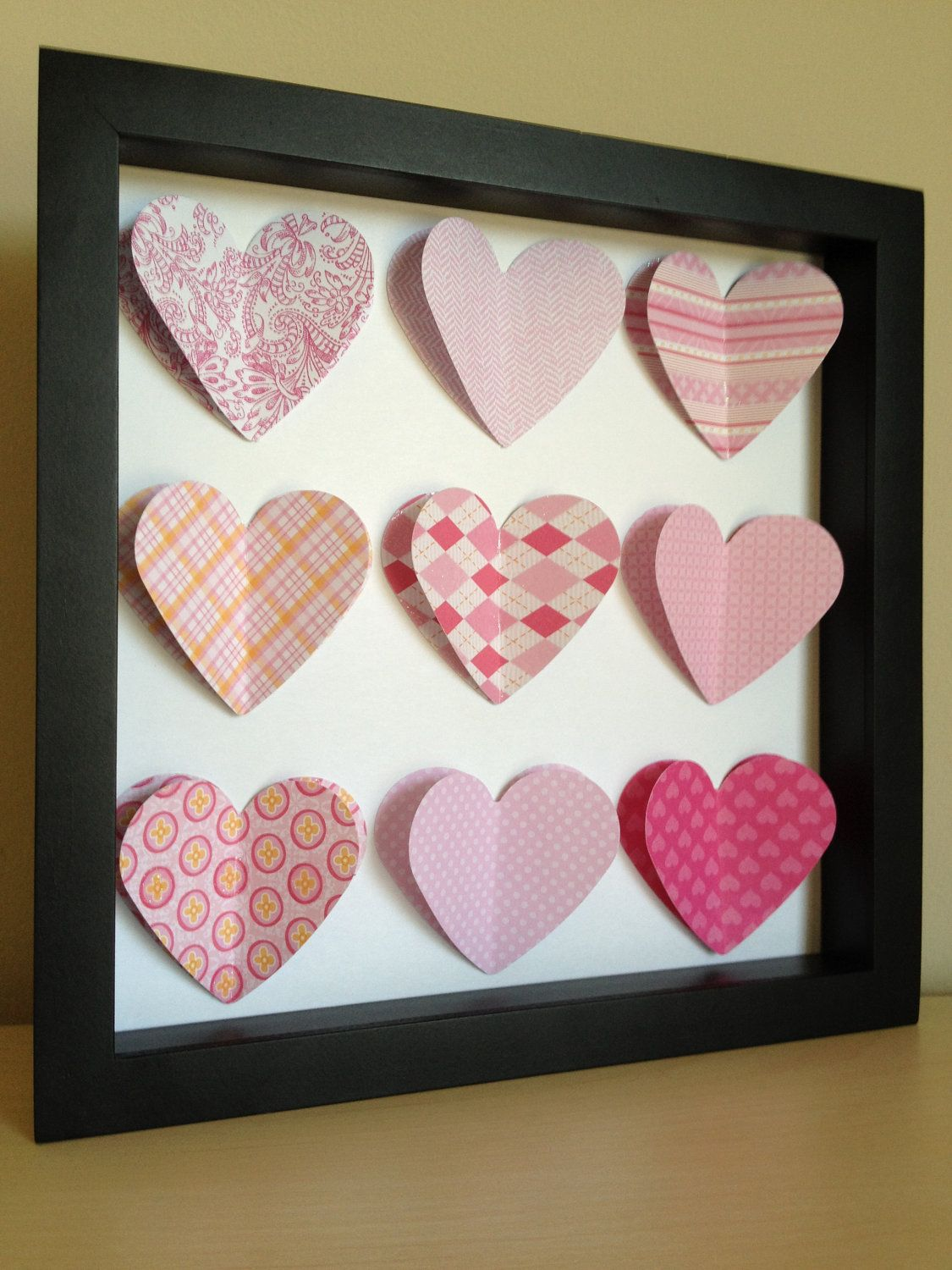 Pink Heart, 3D Paper Art - perfect for a new baby or little girl\'s ...