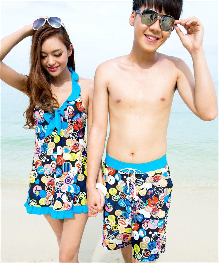 09221eb155 couple #swimwear | swimwear | Swimsuits, Swimwear, Conservative swimsuit