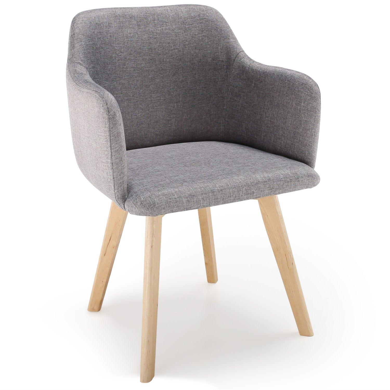 lot de 2 chaises tissu dossier capitonn beige costel embellir le salon et la salle manger. Black Bedroom Furniture Sets. Home Design Ideas